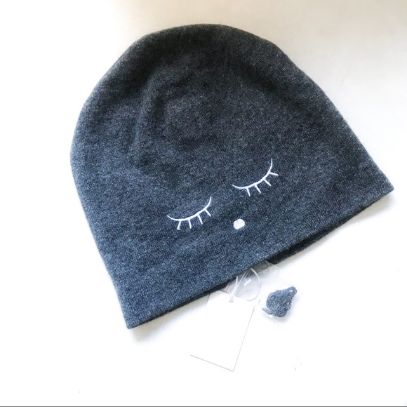 89fc54466d5 💕HP💕LIVLY Cashmere Gray Wink Hat Beanie